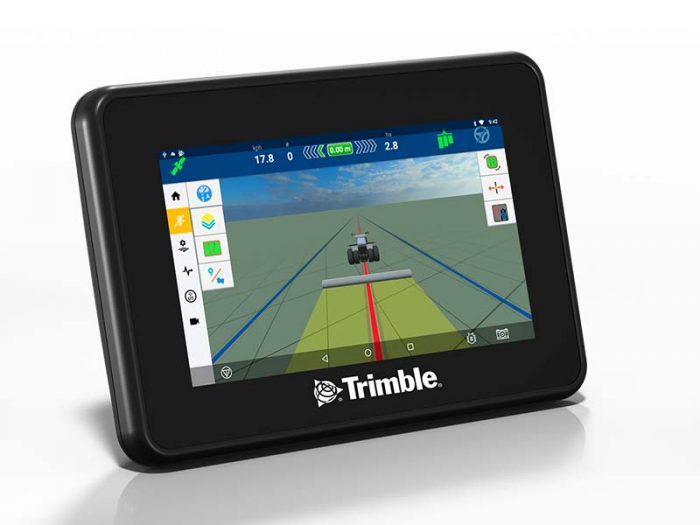 New GFX 350 display from Trimble