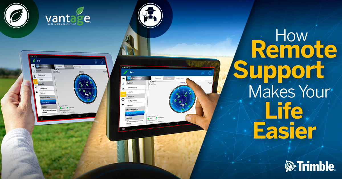 Trimble Agriculture Remote Support with Vantage Ireland