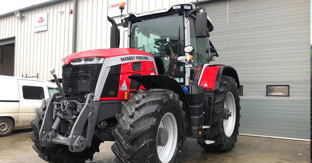 Massey 8S.225 fitted with our Trimble GFX750 Display and Nav900 on Autopilot.